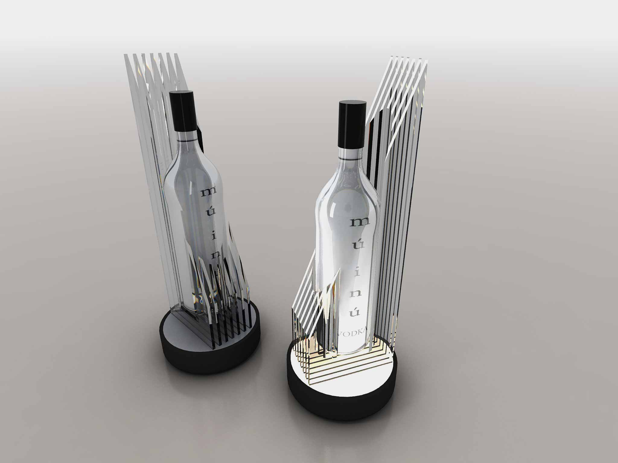 5) Vodka Lighted Counter Display